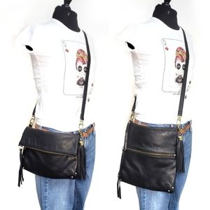 Lucky Leather Convertible Crossbody Shoulder Bag